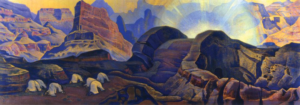 Рерих Н.К. Чудо (серия «Мессия»). Государственный музей Востока (Москва), 1923