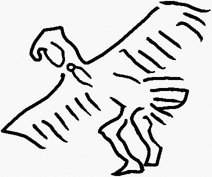 Прорись с рисунка Н.К.Рериха, сделанного в пуэбло Сан-Идельфонсо. Музей Н.Рериха (Нью-Йорк)